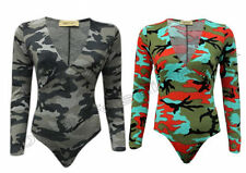 Viscose V Neck Camouflage Jumpsuits & Playsuits for Women