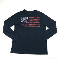 Polo Ralph Lauren Youth Boys Navy Blue Graphic Long Sleeve T Shirt Large
