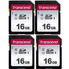 4 Pack Transcend 16GB Class 10 SDHC Memory Card for Canon, Nikon, Fuji Cameras