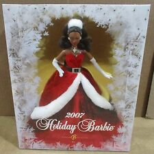"""2007 African American """"Miss Santa Claus"""" Holidays Celebration Barbie Doll NEW"""