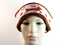 WARM AZTEC INSPIRED TRIBAL THEME BROWN ORNAGE/WHITE HEAD BAND WINTER WEAR(HT2)