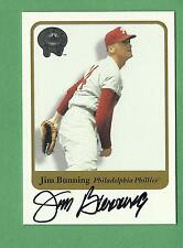 2001 Fleer Greats of The Game Jim Bunning auto autograph card hall of famer RIP