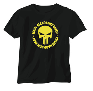 T shirt Navy Clearance Diver SEAL Special Forces Helmet EOD RAN RN