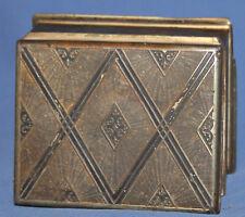 Vintage Art Deco Metal jewellery box