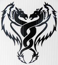 Pair dragons devil monster stickers/car/van/bumper/window/decal code 5257 Black