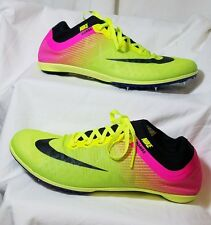 *NEW* NIKE MAMBA 3 RIO Mens Neon Green Pink Track Cleats Size 10.5