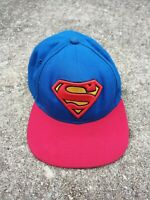 Classic Red Yellow Blue Superman Logo Embroidered DC.Comics Snapback Hat
