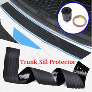 Car Accessories 4D Rubber Stickers Car Trunk Guard Plate Sticker Moulding Trim