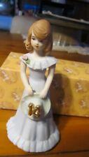 1982 Enesco Growing Up Birthday Girls Figurine Age 14