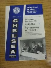 10/03/1965 Chelsea v Tottenham Hotspur  (Crease, Score Noted On Cover). Conditio