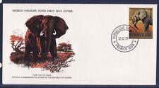 WWF enveloppe 1er jour  Guinée  l' éléphant de brousse