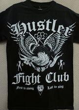 "Hustler Men's T-Shirt ""Last To Sing"" --Size S, Black"