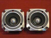 "NEW (2) 3-1/8"" Titanium Tweeters.120 watts.Speakers.Pair.Home Audio.Replacement"