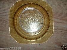 Vintage Madrid Depression Glass Amber Salad  plate