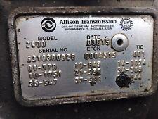 Allison 2400 Transmission Freightliner M2 2004