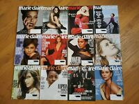 NEW Lot of 14 MARIE CLAIRE Magazines October 2017 -  August 2019 UNREAD