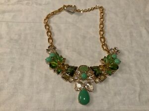 J. CREW NECKLACE NEW WITH TAGS NWT GREEN COSTUME JEWELRY FAST SHIP
