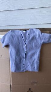 Vintage Angora Rabbit Hair Sweater  Size S Short Sleeve