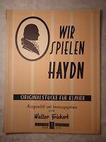 Wir spielen Haydn, Originalstücke für Klavier, Walter Frickert, Noten Klavier 2