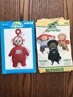 Butterick Sewing Pattern 6508 Cabbage Patch Kids Clothes & Teletubbies Po *UNCUT