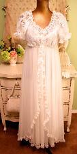Vtg 1960s Tosca Lingerie White Nylon Wedding Pinoir Set Sz S Retro Pinup NOS