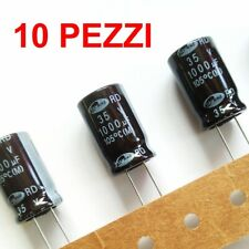 10 pezzi Condensatori Elettrolitici radiale 1000uF 35V 105°C 12,5x20mm