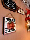 Pumpkin Farm Wall Hanging Plaque Decor Thanksgivings Turkey harvest Fall Wreath