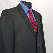 Tommy Hilfiger Men's Black Slim-Fit Sport Coat Blazer Jacket Size 44R  100% Wool