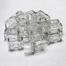 Bulk Lego Pieces: 20 Clear 1x2 Bricks Legos, transparent ** NEW ** LDraw 3065