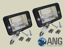 TRIUMPH STAG MkII REAR NUMBER PLATE LAMPS, CLIPS, SCREWS & GASKETS x 2 (DRC276)