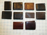 Lot 10 Leather Wallet Bifold Trifold J Crew Perry Ellis Kenneth Cole CK Guess