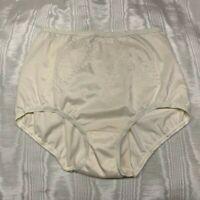 Vintage Ivory Nylon Lycra Spandex Shapewear Panties. Size L