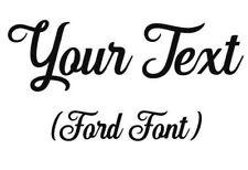 Custom Ford Sticker Decal Word Vinyl Name Decal 7-10 Ford font custom