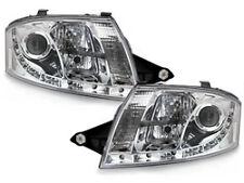 Fari D-LITE Audi TT 8N  cu luci diurne LED chrome