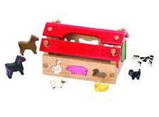 Wooden Animal House Barn Educational Learning Toy