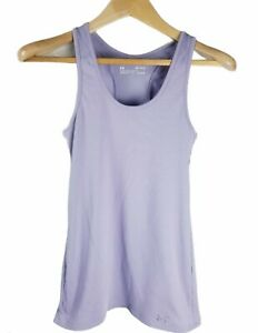 UNDER ARMOUR Fitted Womens Medium Purple RACERBACK TANK TOP