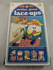 Mother Goose Lace Ups Cards Set Whitman 1974