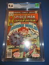 Marvel Team Up #66 Bronze Spider-man 2nd Captain Britain Byrne CGC 9.6 NM+ Wow
