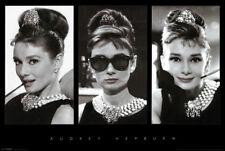 Audrey Hepburn Breakfast at Tiffanys Photo Collage 24x36 Movie Poster Print