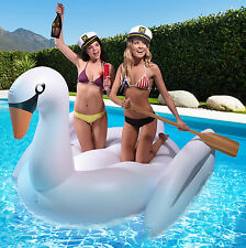 Swan Voyage™ Giant Inflatable Swan Pool Float - Heavy Duty + Holds 2+ Adults