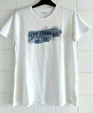 Pepe Jeans London LDN White Men's Short Sleeve T-Shirt Size XL