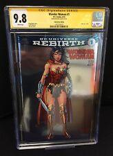 DC Wonder Woman Rebirth #1 Silver Foil Variant CGC Signature Jim Lee 9.8