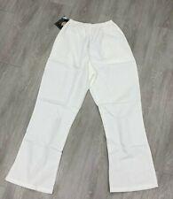New w/ Tags Dickies Elastic Scrub Pants White Size M