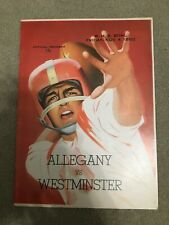 FM9-11 1960 ALLEGHENY vs WESTMINSTER WHS Football Bowl PROGRAM