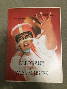 FM9-11 1960 ALLEGHENY vs WESTMINSTER WHS Football Bowl PROGRAM