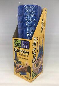 """GoFit GoRoller Foam Portable Massage Roller Length: 12"""" Diameter 4"""" no ball"""