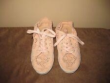 Ladies Lee Cooper Apricot Cotton Lace Sneakers - Size 5