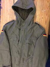 Vintage German Army Military Parka Jacket / Large Detachable Fleece Liner40 Inc