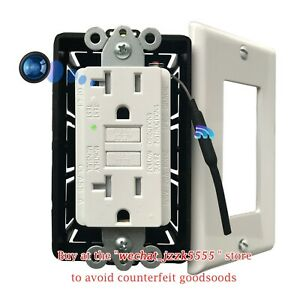 4K Wifi Spy Camera is Hidden in AC Wall GFCI Socket,Outlet Are Fully Functional