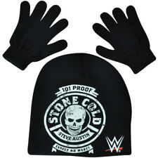 WWE Stone Cold Beanie Knit Glove Set Wrestler Wrestling Entertainment TV Show